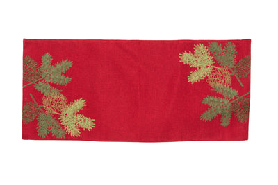 XD18901 Christmas Pine Tree Branches Table Runner