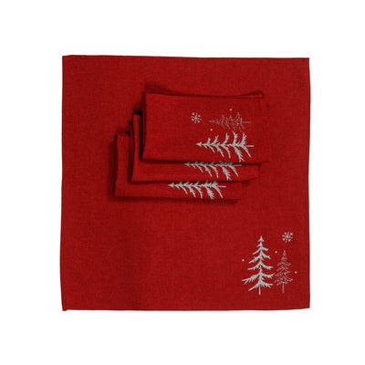XD18905 Snowing Forest 20''x20'' Napkins, Set of 4