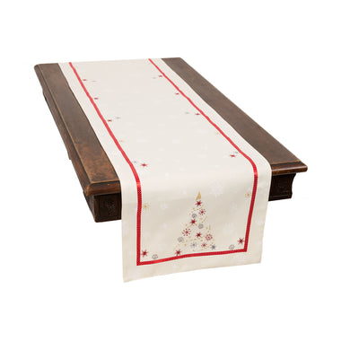 XD18908 Festive Christmas Tree Table Runner
