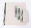XD19203- Cute Leaves Crewel Embroidered Napkins 20 by 20-Inch, Pine Green, Set of 4
