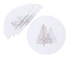 XD19803-Festive Trees Embroidered Christmas Placemats 16-Inch Round, White, Set of 4