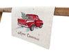 XD19812-Merry Christmas Truck Embroidered Table Runner 16 by 36-Inch