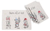 XD19813-Animal's Fun Holiday Party Embroidered Placemats 14 by 20-Inch, Set of 4