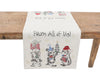 XD19813-Animal's Fun Holiday Party Embroidered Table Runner 16 by 36-Inch