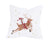 XD19820-Reindeer With Gifts Embroidered Christmas Pillow 14 by 14-Inch