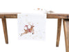 XD19820-Reindeer With Gifts Embroidered Christmas Table Runner 16 by 36-Inch