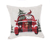 XD19884-Santa Claus Riding On Car Christmas Pillow 14 by 14-Inch