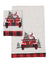 XD19884-Santa Claus Riding On Car Christmas Decorative Towels 14 by 22-Inch, Set of 2
