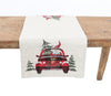 XD19884-Santa Claus Riding On Car Christmas Table Runner 16 by 36-Inch