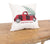 XD19886-Vintage Tartan Truck With Christmas Tree Pillow 14 by 14-Inch