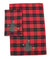 XD19886-Christmas Tree Decorative Tartan Towels 14 by 22-Inch, Set of 2