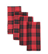 XD19888-Holiday Plaid Napkins 20 by 20-Inch, Set of 4