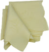 "XD40030 Tulip Bouquet Napkins, 21""x21"", Yellow, Set of 4"