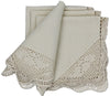 "XD50002 Hand-Stitched Crochet Napkin, 21""x21"", Set of 4"