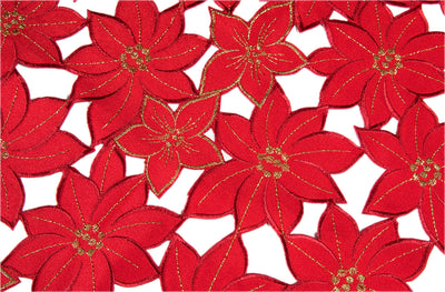 XD795022 Festive Poinsettia Table Runner