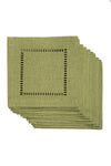"XD915918  Melrose Hemstitch Coaster 6""x6"", Set of 12"