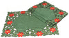 XD93248 Holly Leaf Poinsettia Placemats, 14''X20'', Set of 4