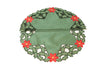 XD93248 Holly Leaf Poinsettia Doilies, Set of 4