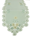 XD93250 Emerald Daisy Table Runner