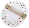 XD93253 Classic Holly Doilies, Set of 4