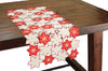 XD99022 Candy Cane Poinsettia Table Runner