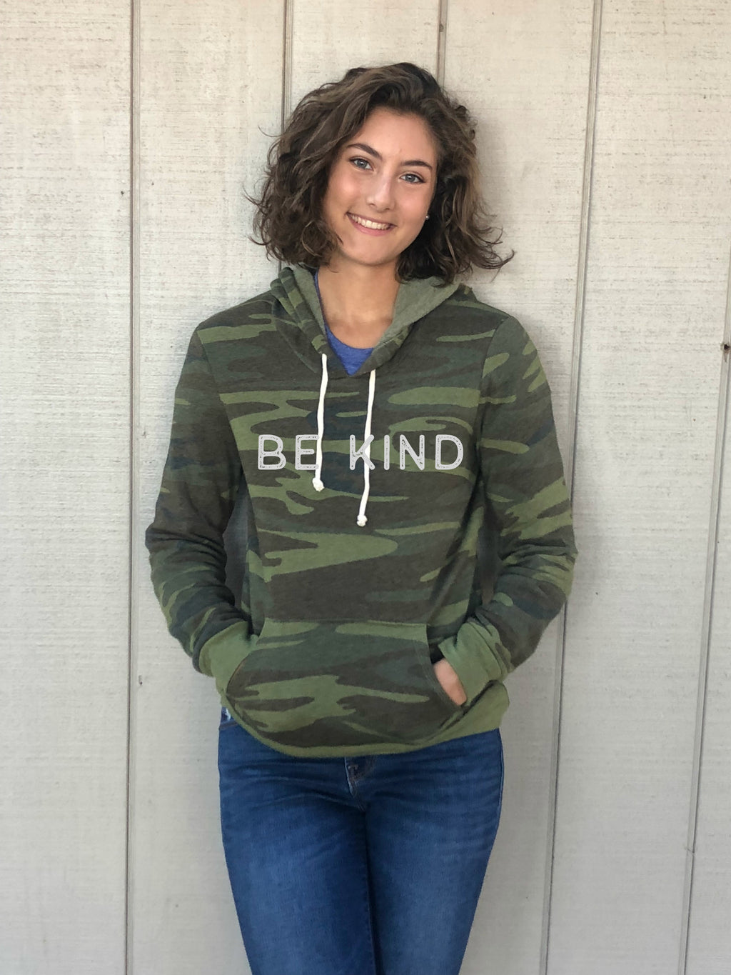 Be Kind Camo Sponge Fleece Sweatshirt