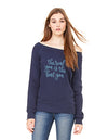 The Real You is the Best You Maroon Long Sleeve Slouchy Tee