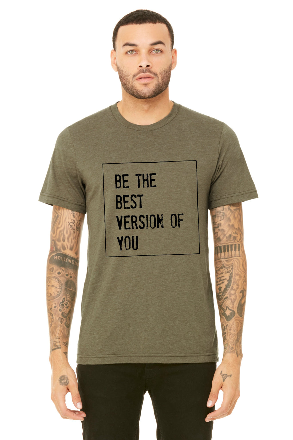 Be the Best Version of You Olive Boyfriend Unisex Tee