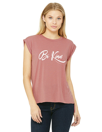 Be Kind Rolled cuff christian t shirt