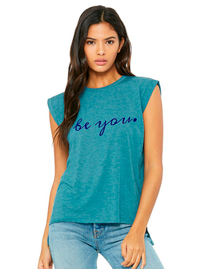 Be You Teal Rolled Cuff