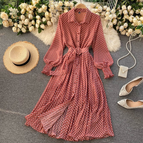 French Vintage Maxi Dress
