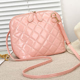 Quilted Faux Crossbody Bag
