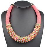 African Woven Choker Ethnic Necklace