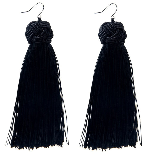 Ethnic Style Long Tassel Earrings
