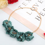 Flower Pendant Summer Necklace