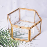 Geometrical Clear Glass Jewelry Box