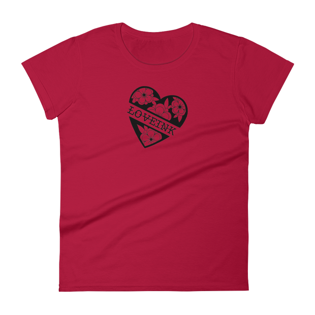 Dimension Ink Love Ink Women's short sleeve t-shirt