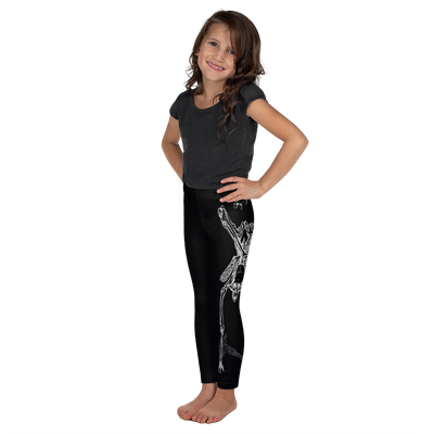 Kids CONTORTURE Leggings: Boney White