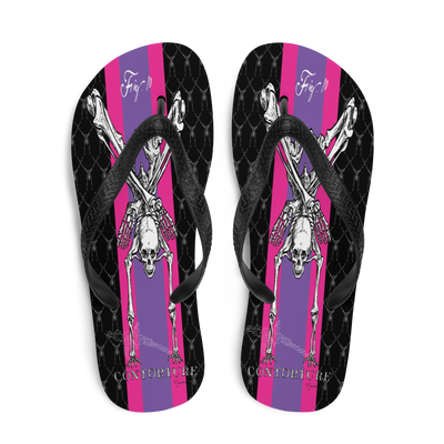 Contortion Flip-Flops: Contorture Super Stripe!