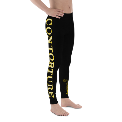 Men's Contorture Leggings Tights: Solid Gold