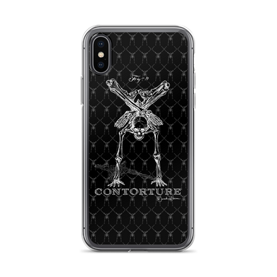 Contorture iPhone Case: Boney White Contortion Skeleton