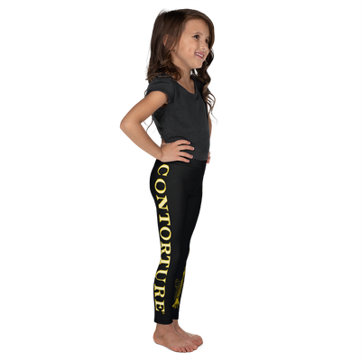 Kids CONTORTURE Leggings: Solid Gold