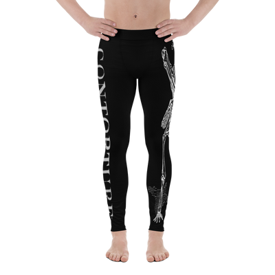 Men's Contorture Leggings Tights: White Boney