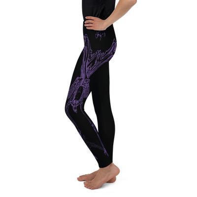 Youth CONTORTURE Leggings: Purple Passion