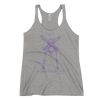 EuroWomen's Racerback Tank: Black Sabbath Purple