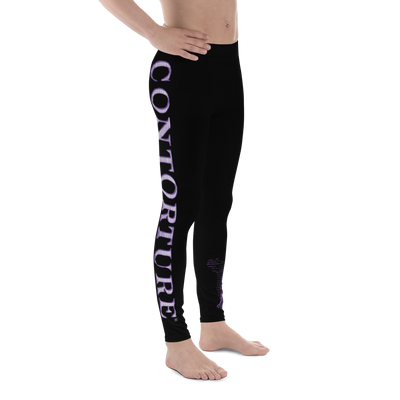 Men's Contorture Leggings Tights: Black Sabbath Purple