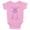 BABY Short Sleeve Bodysuit: Black Sabbath Purple