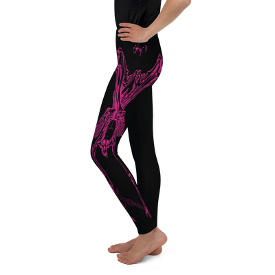 Youth CONTORTURE Leggings: Hot Pink