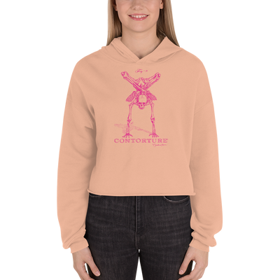 Cropped CONTORTURE Hoodie: Pinky