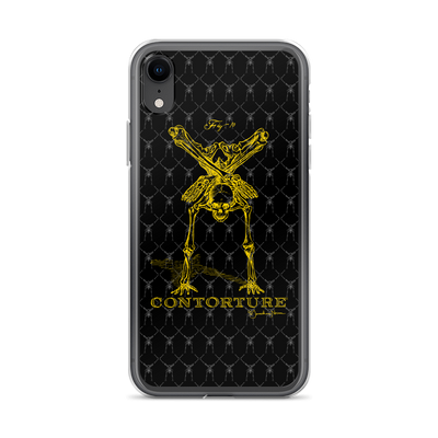 Contorture iPhone Case: Gold Contortion Skeleton